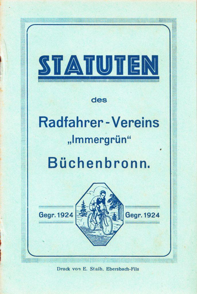 1. Vereinssatzung aus dem Jahre 1930