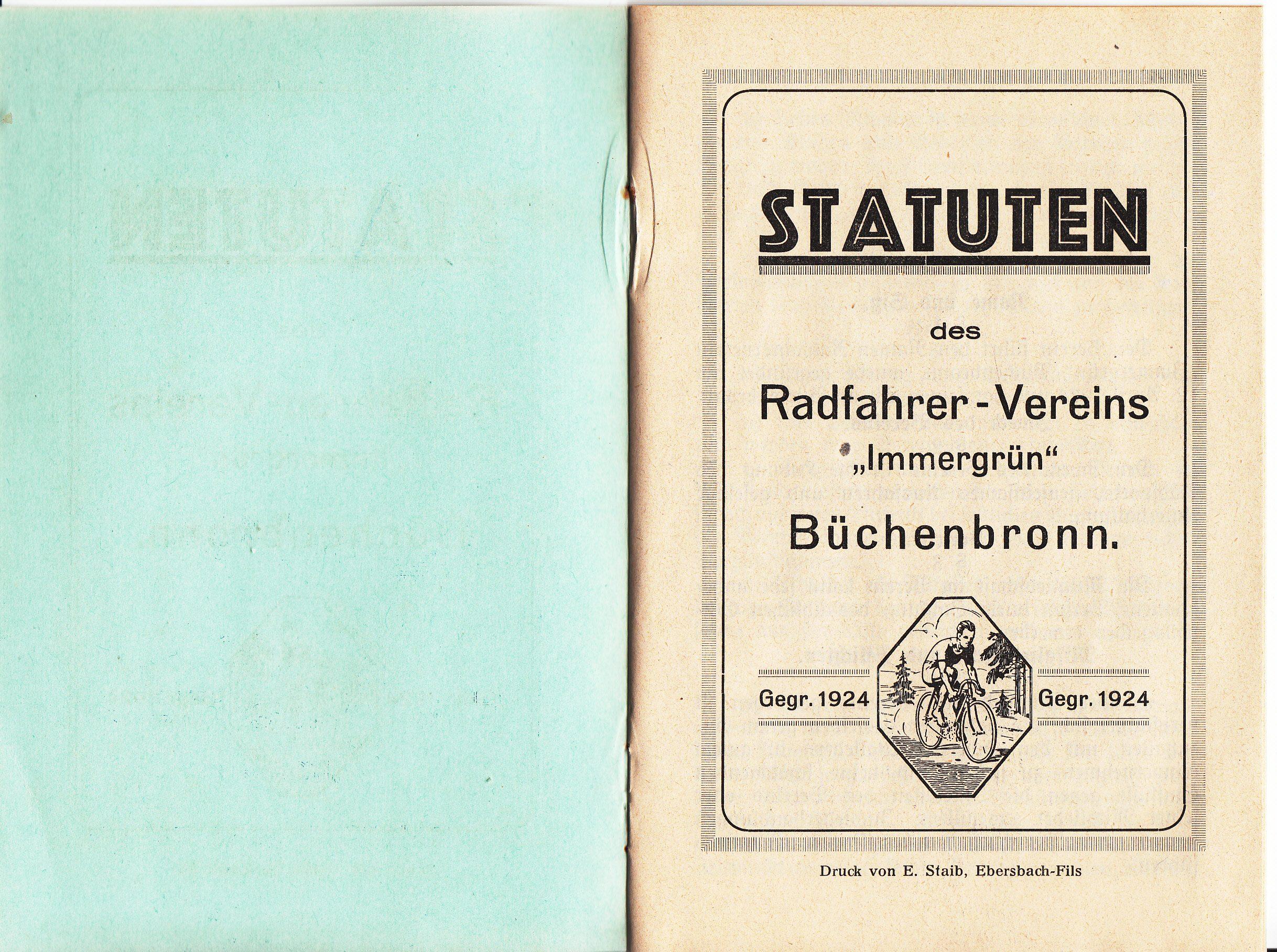 Statuten des Radfahrer-Vereins